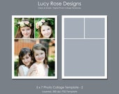 5 x 7 Photo Collage Template - 2