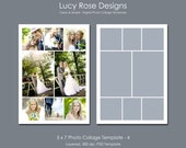 5 x 7 Photo Collage Template - 4