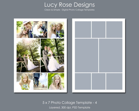5 x 7 photo collage template 4 for 4 picture collage template