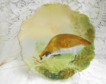 Antique Flambeau Limoges France Hand Painted Charger Plate Signed Rene 19th Century Artist