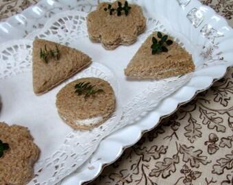 Antique Tea Sandwich Platter, Austrian