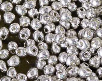 3.4mm Miyuki Drop Bead - 985/1512 - Galvanized Silver Metallic Drop Beads - 10 grams