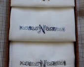 IOB Men's Vintage Handkerchiefs with Monogram --Item No C09441