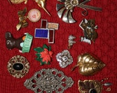 Lot B  Fourteen Brooches  All Kinds  All Very Nice  All Unmarked