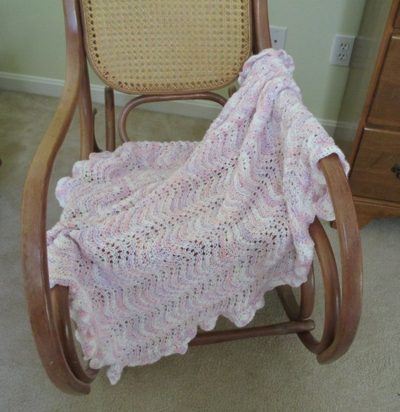 Knitted Baby Blanket With Crochet Edging By Stitchingknitting