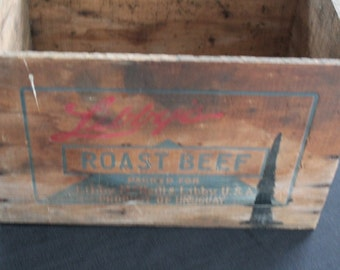 Vintage Libby McNeill Roast Beef Crate Product of Uruguay