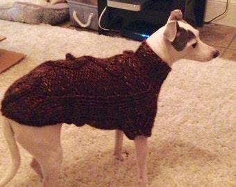 Italian Greyhound Sweater CUSTOM Super Warm Cables and Baubles