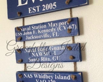 Navy Duty Station Sign, Military Duty Station Sign, USN Duty Station Sign, Home is Where the Military Sends Us, home is where the navy sends