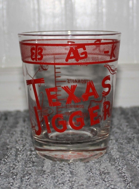 vintage large shot glass texas jigger astrodome. Black Bedroom Furniture Sets. Home Design Ideas