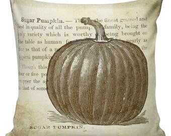 Thanksgiving Pillow, Fall Pillow, Pumpkin Pillow, Throw Pillow Cover, Cotton Pillow, Made in USA, Thanksgiving Decor, #TH0002