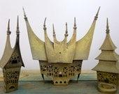 3 Little Vintage Unique Brass Tibetian Temples
