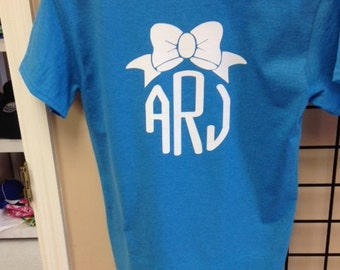 Bow T-shirt with monogram