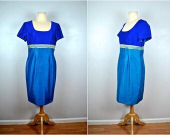 Fabulous Two Toned Dress, Vintage Color Blocked Dress