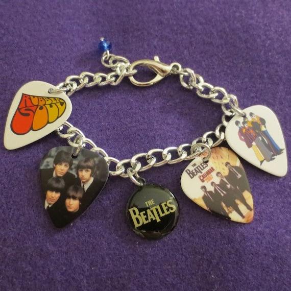 Beatles Real Guitar Charm Bracelet By SharynKBeatlecrafts