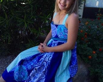 Stunning little girls dress/tea party dress/size 10 girls dress/custom maxi girls dress also
