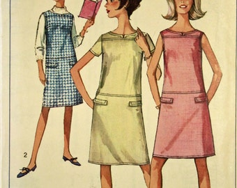 Dress or Jumper - 1960's - Simplicity  Pattern 6331  Size 8s (Sub-Teen) Bust  28""