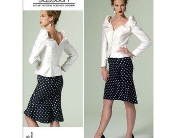Top & Skirt by Bellville Sassoon - 2010's - Vogue Pattern 1296  Uncut  Sizes 16-18-20-22-24  Bust:   38-40-42-44-46""