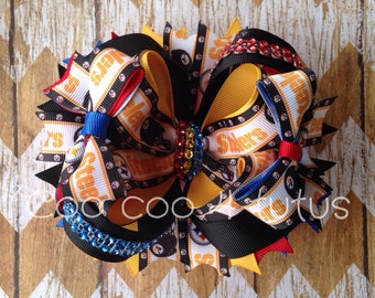 Blinged out steelers bows