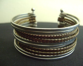 Handmade Wire Wrapped Metal Bracelet