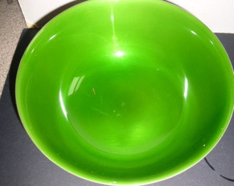 Gorgeous green enamel and silver bowl by Reed and Barton - model 104 - gorgeous display piece - vibrant green color