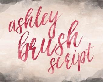 Printable Wisdom Brush Calligraphy font, Brush lettering font, handwritten font handlettered print font hand written font, commercial use
