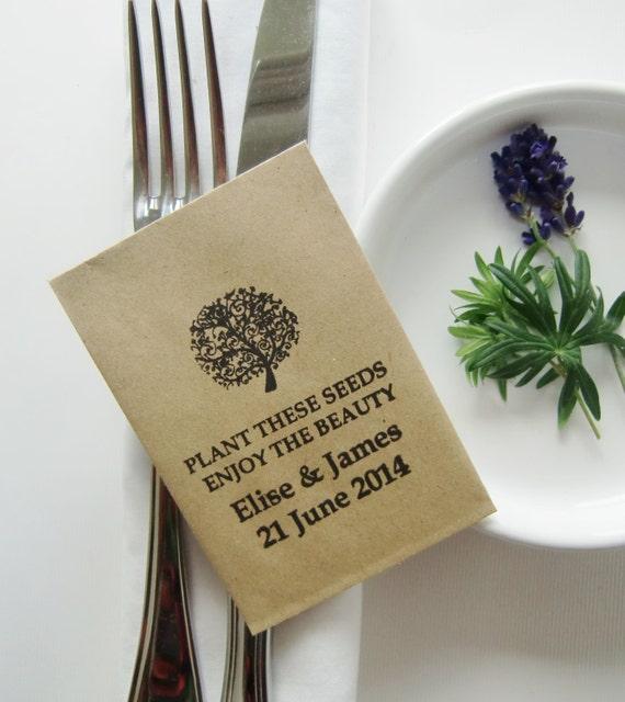 Rustic Wedding Favors Wedding Seed Packets Kraft By IzzyandLoll