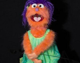 "Handmade, professional ""child monster"" hand puppet"