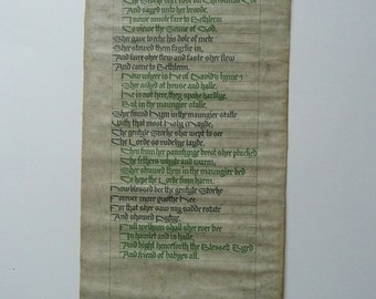 Vintage Scroll/Parchment The Storke a Christmas Ballad printed 1960's