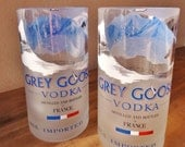 Grey Goose Vodka Drinking Glasses Set of 2 Tumblers