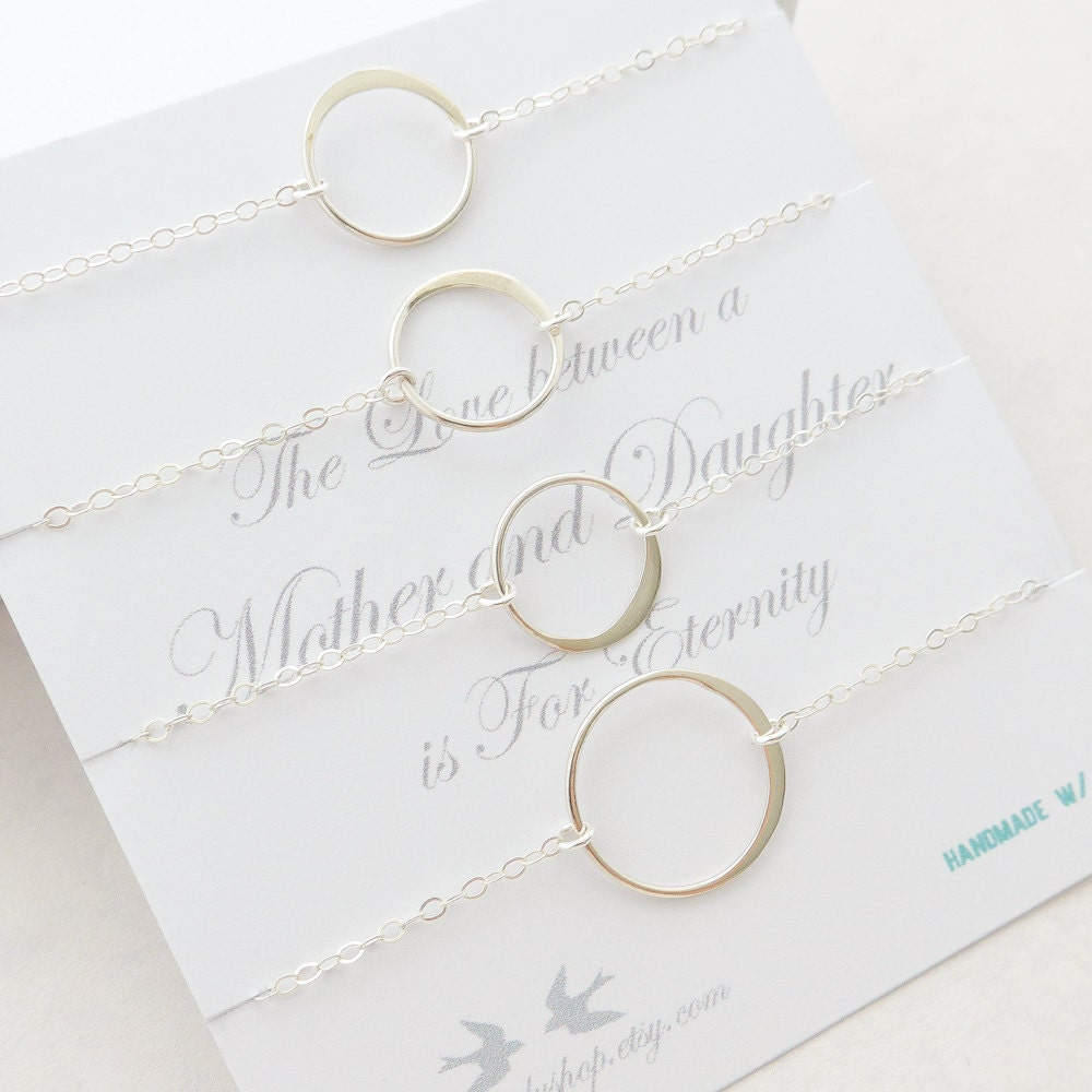 Mother Daughter Necklace Eternity Ring By Sweetmelodyshop