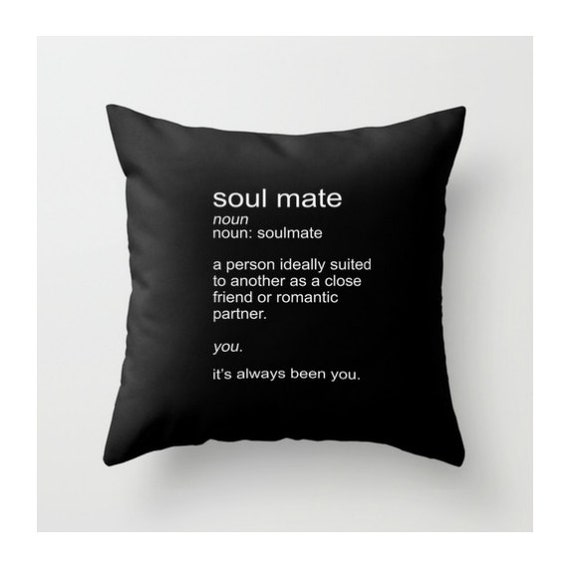 Throw Pillow Meaning : Soulmate Definition Pillow Throw Pillow Couples by BeckyMcCreary