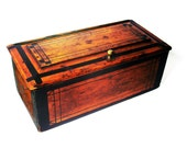 Rustic Cottage Farmhouse Vintage Box, Antique Wood, Country Décor, Wooden Storage, Hand Painted