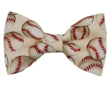 Baseball Clip on Bow Tie Men / Boys Sport Bowtie