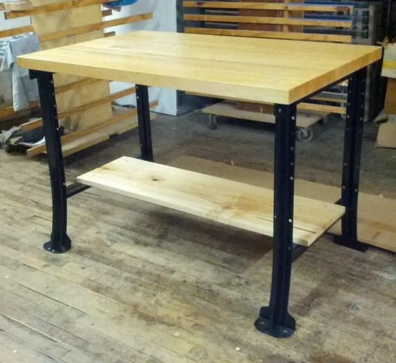 Kitchen Island Desk Table Workbench Black By