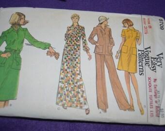 Vogue 8709 Misses  Dress Tunic and Pants Sewing Pattern  - UNCUT Size 8 - UNCUT