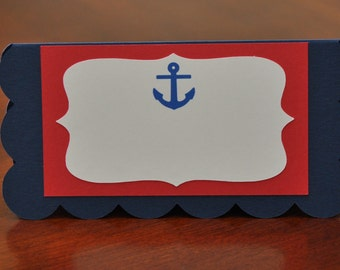 Nautical Food Labels Set of 6, Nautical Party Labels