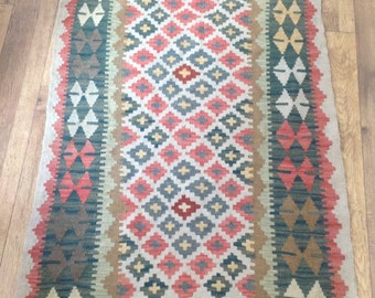 Turkish Rug - 209 x 100 cms - Hand Woven Turkish Traditional Kilim Rug
