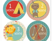 Playtime Baby Monthly Stickers