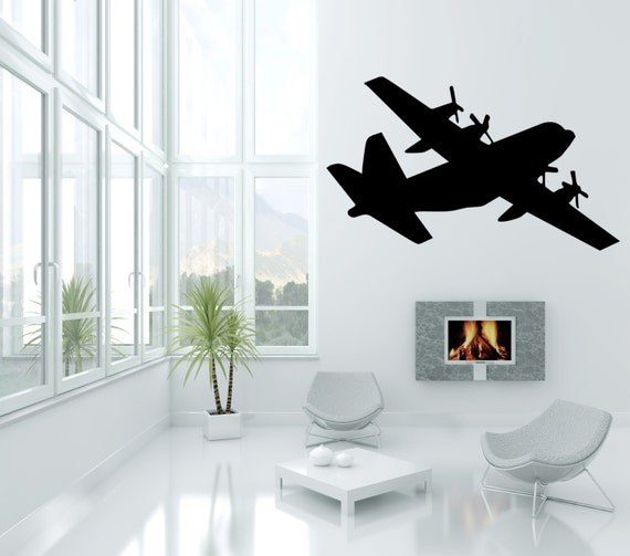 Wall Quotes C130 Military Army Airplane Vinyl Wall Decal Quote
