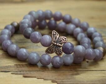 Bead bracelet/ butterfly bracelet/ butterfly jewelry/ bracelet/ beaded bracelet/ butterfly