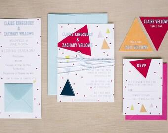 Modern, Geometric Wedding Invitation Printable