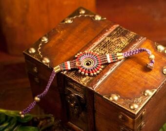 Purple Macrame sun bracelet