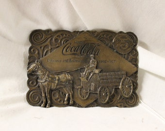 Coca Cola 75th Anniversary Belt Buckle