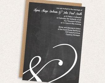 DIY Printable Wedding Invitation - Modern - Ampersand - The Alyssa