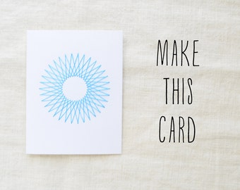 DIY Embroidery Kit - Create Your Own Geometric Embroidered Card