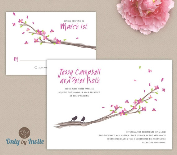 Cheap Wedding Invitations And RSVP Cards Printed