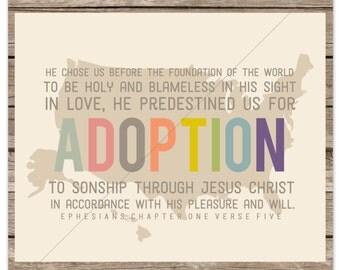 He Chose Us for Adoption (Ephesians 1:4-5) USA