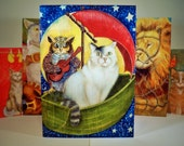 5 Literary Cats Greeting Card Designs from original art (10 pack box)