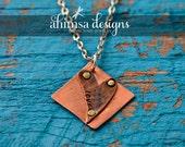 Copper Love Mantra Necklace