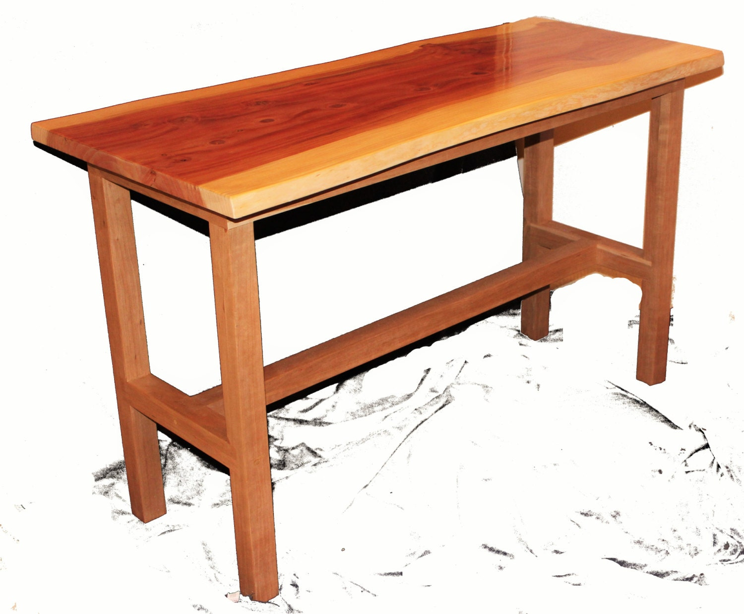 redwood and cherry kitchen table